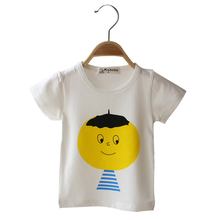 2016 summer Cartoon Boys Girls Clothing Tops T-Shirts casual short small children all-match T-shirt children clothing