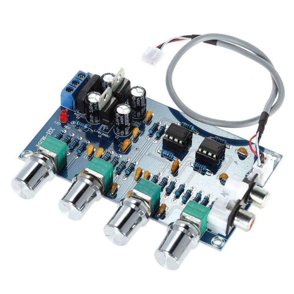 FOR NE5532 Stereo Pre-amp Preamplifier Tone Board Audio 4 Channels Amplifier Board