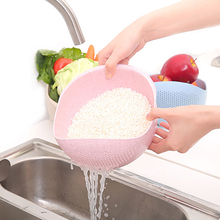 New Arrival Multi-Function Colanders Wheat Straw Rice Vegetable Fruit Strainer Kitchen Gadget wash Creative Household home Drain
