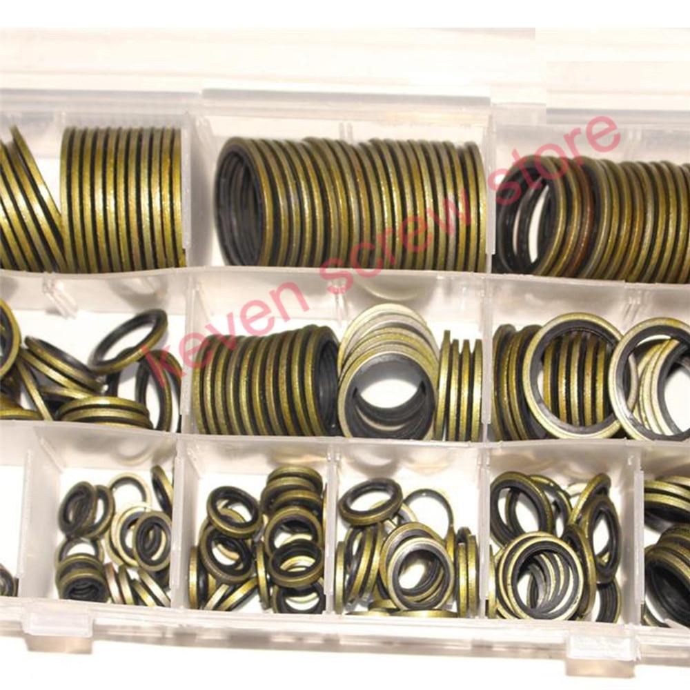 100 stücke/240 stücke m6 m8 m10 m12 m14 m16 Hohe Presse Hydralic Gummi Öl Rohr Dichtung Dichtung NBR metall Dichtung Ring Sortiment Kits
