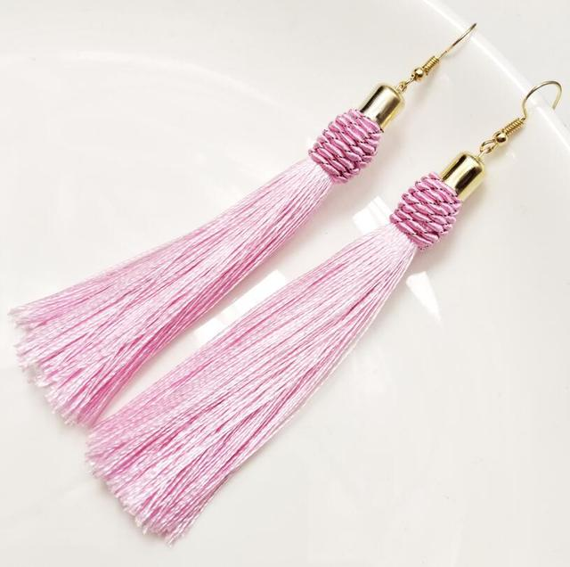 Long Twist Tassel Earrings For Women Fashion