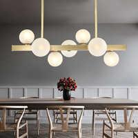 Nordic Glas Bohnen Led Kronleuchter Beleuchtung Glanz Kupfer Esszimmer Led Anhänger Kronleuchter Lichter Foyer Led Suspension Lampe
