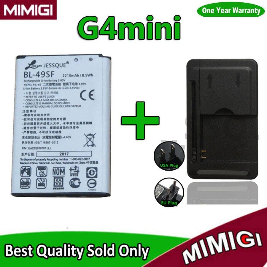 1 лот = 1 шт. 2300 мАч BL-49SF Батарея + 1 шт. Зарядное устройство для <font><b>LG</b></font> <font><b>G4</b></font> мини G4C G4S H735T h525N G4mini <font><b>G4</b></font> BL49SF Beat Bateria Batterij Акку