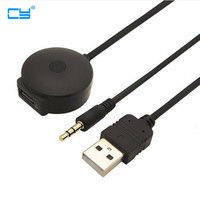 USB 3 5mm AUX To Bluetooth Audio Aux USB Female Adapter Cable For Car BMW Mini
