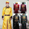 Emperador chino traje ropa emperador de la dinastía qing de china dinastía qing ropa disfraces para hombres