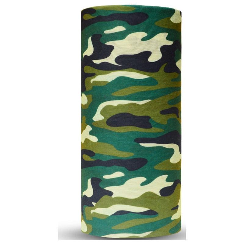 Green Camouflage Motorcycle hijab Bandana Military headwear Outdoor Scarf seamless men Mask women Cap skull headband babushka 18