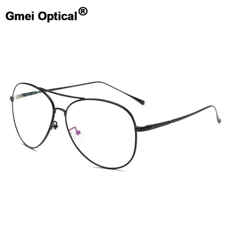 Gmei Optical Vintage Sunglasses Optical Eyeglasses Frames Myopia Metal Alloy Women Men Spectacles Oculos De Grau Eyewear A27021 image