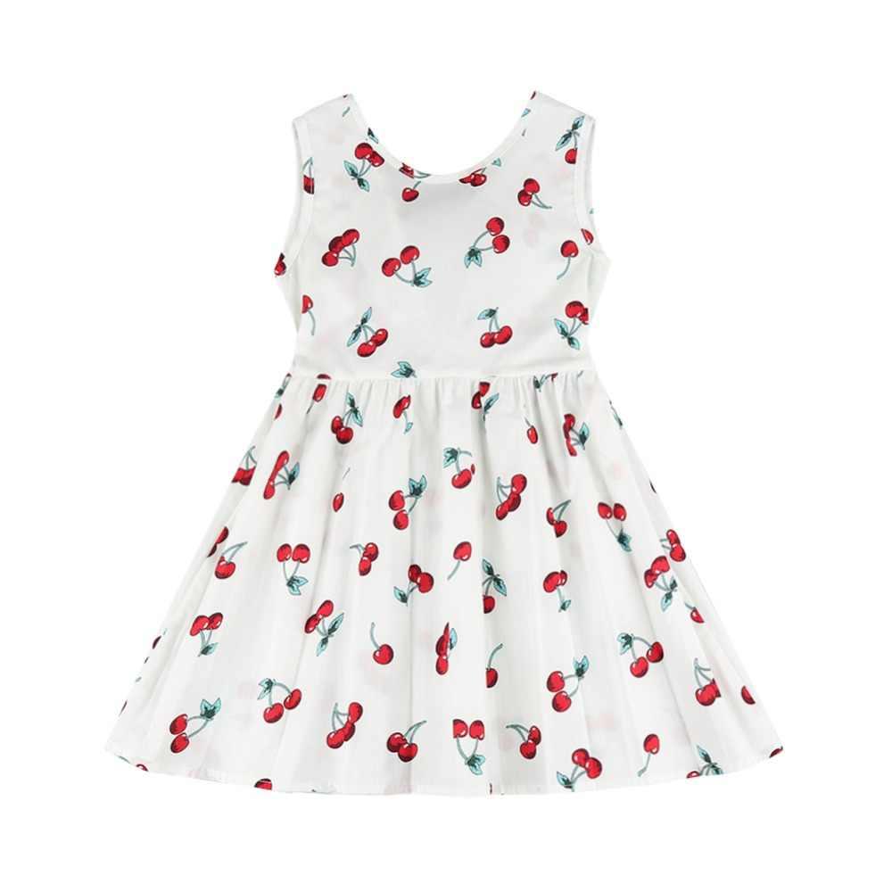 Yaz Kız Elbise Kolsuz Backless Tığ Işi Desen Elbise Sevimli Çocuklar kızlar için Parti Elbiseler Prenses Elbise Dropshipping