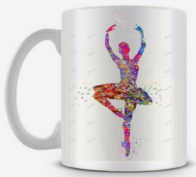 0d1819ca767 Ballerina Ceramic white coffee tea milk mug cup funny novelty travel custom  morphing mugs personalized gifts for him or her