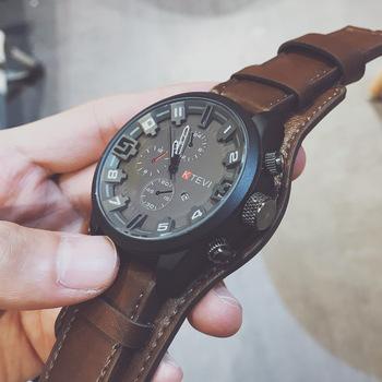 2019 nowy product mężczyźni zegarek luksusowej marki zegarki kwarcowe zegar moda zegarek ze skórzanym paskiem tanie zegarek sportowy relogio mężczyzna tanie i dobre opinie Losida Moda casual QUARTZ Stop 23cm Klamra Nie wodoodporne Brak 48mm JS2018120660 Nie pakiet Szkło Okrągły Skóra 18mm