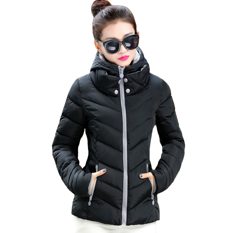 2019 hooded fashion big size 3XL women winter jacket solid stand collar womens basic autumn jacket female coat jaqueta feminina