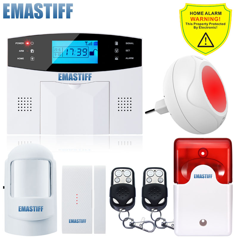 NEW Wireless Indoor Flash Colorful Color Siren GSM Burglar Home Security Alarm System Remote Control Alarm Russian/Spanish Voice for gsm alarm system wireless indoor siren with flash