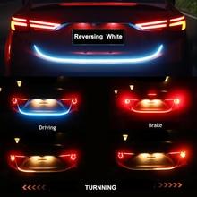 Niscarda Car Additional Stop Light Dynamic Streamer Floating LED Strip 12v Auto Trunk Tail Brake Running