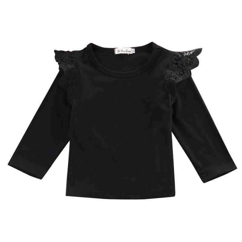 תינוקות פעוט יילוד ילדים תינוקות בנות נסיכת 4 יח'\חבילה סיטונאי בגדי החולצה מקרית שרוול ארוך תחרה בגדי תלבושת