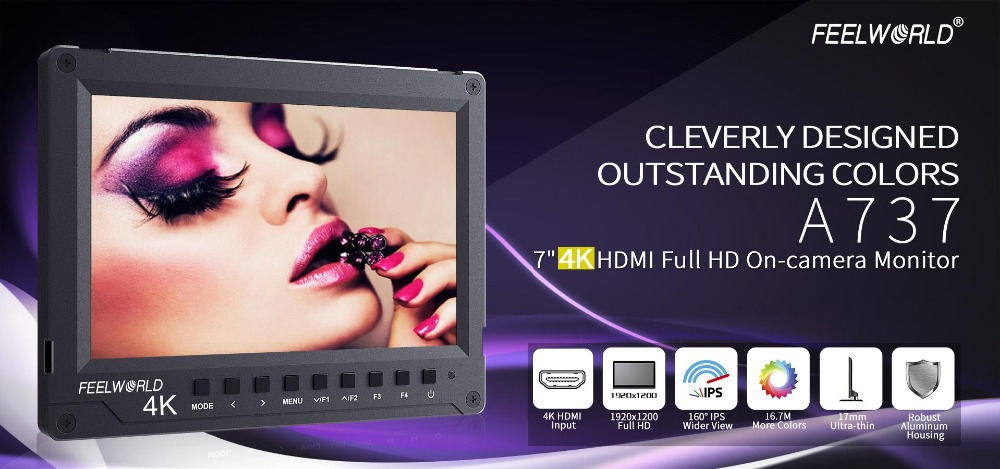 feelworld 7 inch field monitor 4k hdmi input1