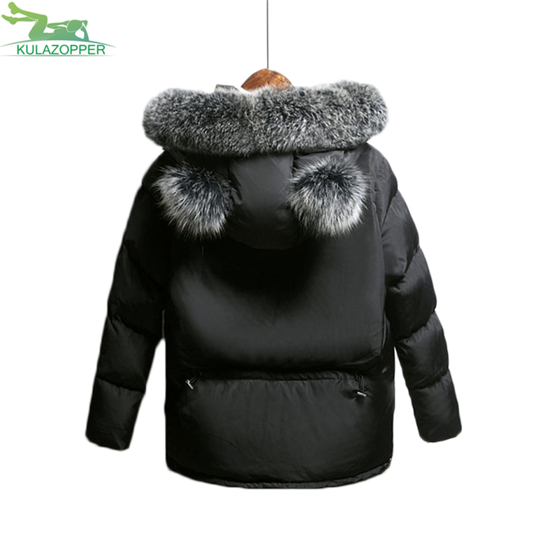 Winter Jacket Women Parka 2017 New Down Cotton Padded Coat Fashion Solid Fur Collar Hooded Outwear For Female Coat QW495 winter jacket women parka 2017 new down cotton padded coat fashion solid fur collar hooded long outwear for female parka qw687