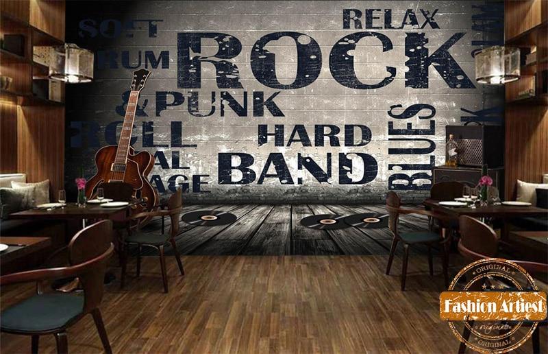 US $20.99 |Custom Hi Fi guitar CD wallpaper mural 3d music wall rock roll  blues band jazz tv sofa living room bedroom cafe bar restaurant-in ...