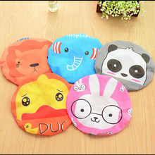 1pc Fashion Cute Cartoon Animal Design Waterproof Elastic Spa Shower Cap Hat Bath Hair Cover Protector Hats Bathroom Product(China)