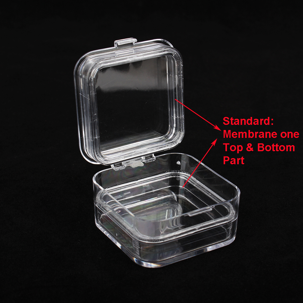 10pcs a Pack Transparent Plastic Dental Crown Box Clear Dental Membrane Box Tooth Organizer 1