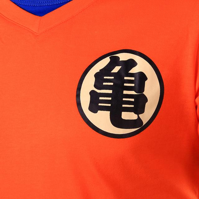 Short Sleeve Orange V Neck Dragon Ball T Shirt Dragon Ball Z Cosplay
