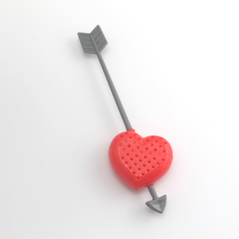 1 Piece Hot Sale New Heart Love Tea Bags Strainers Teaspoon Filter Infuser Plastic Filtration Lovers Valentine's Day Gift