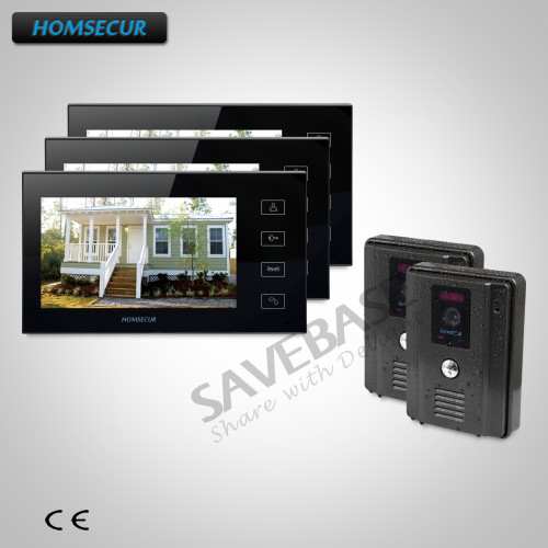 HOMSECUR Russian Local Delivery 7 Video&Audio Home Intercom+Touch Button Monitor for Home Security