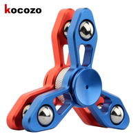 Newest Style Two Piece Superimposed Hand Spinner Aluminum Alloy Autism And ADHD Stress Relieve Toy Fidget