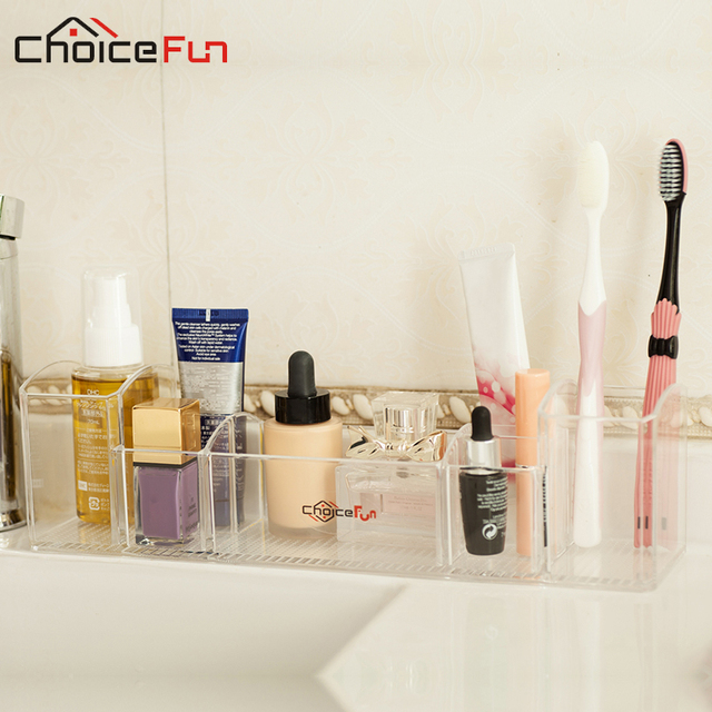 CHOICE FUN Bathroom Organizer Bath Sets Storage Organizer Multi Functional  Holder Storage Box Makeup Brush
