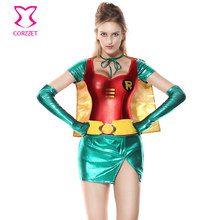 7162fa8677 Corzzet Halloween Wonder Woman Superhero Superwoman Cosplay Costume Adult  Women Fancy Dress