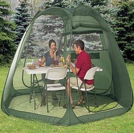 Haute qualité 5-10person tente de plage automatique instantanée double couche grande toile pare - soleil / tente de camping