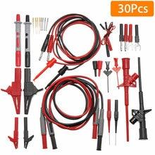P1600D Pluggable Multifunctional Multimeter Probe Test Leads Kit Automotive Probe Set IC Test Hook Cable Instrument Parts