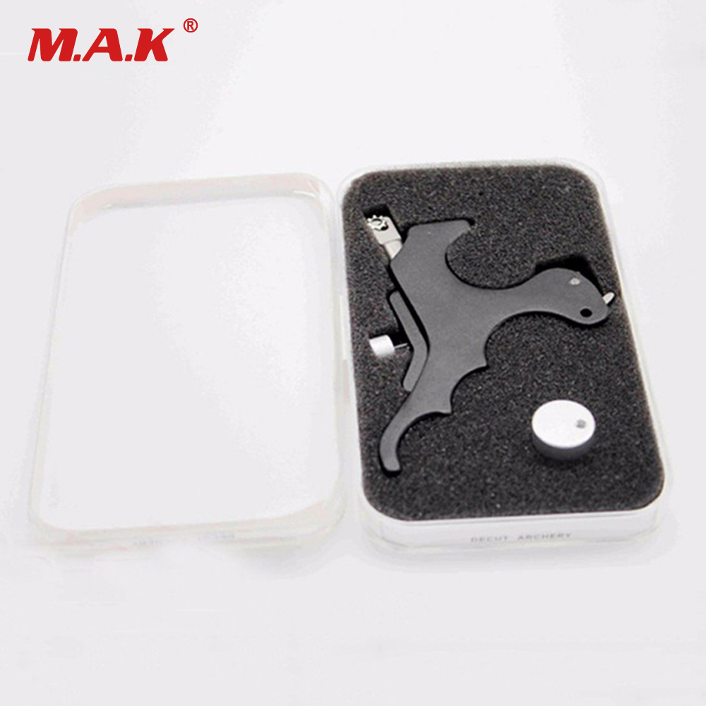 High Quality Black Stainless Steel Archery Caliper Release for Compound Bow Hunting Archery with Box allen company exacta xx archery buckle release