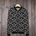 2016 New Autumn and Winter  men's knit cardigan sweater Knitwear men's round neck cotton Slim Fit wool sweaters high quality