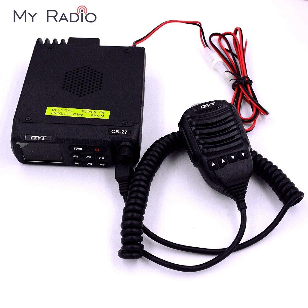 QYT CB-27 AM FM bande citoyenne multi-normes CB Radio Mobile 12/24 V 26.965-27.405 MHz autoradio Mobile émetteur-récepteur Interphone