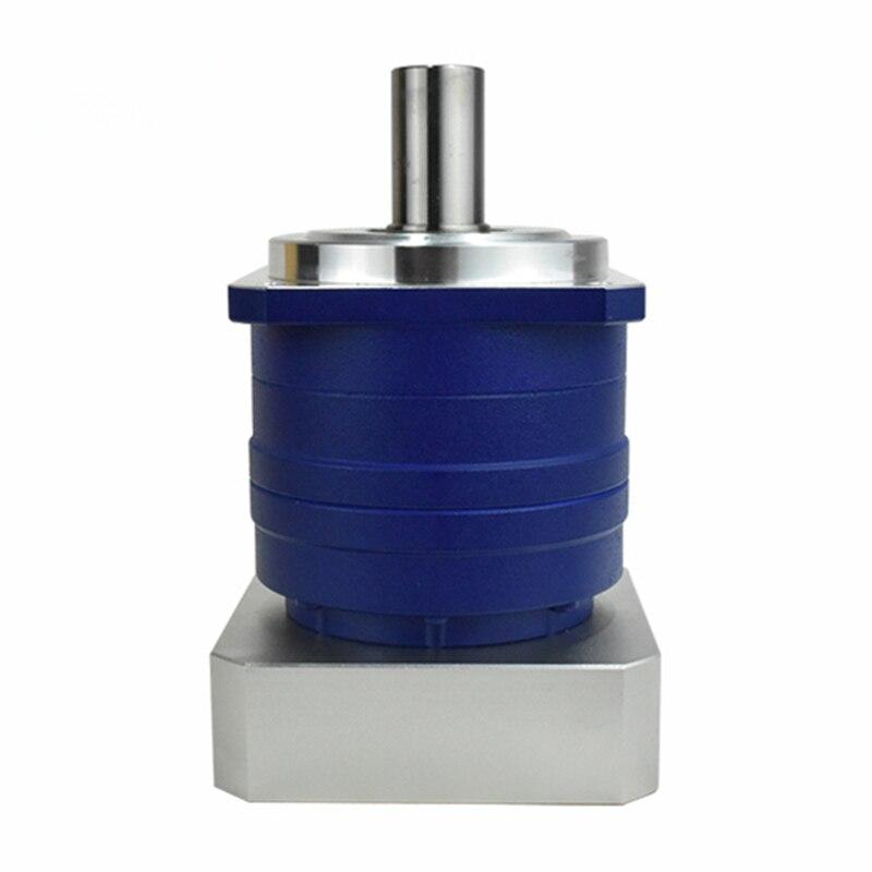 high Precision Helical planetary gear reducer 5 arcmin ratio 15:1 to 100:1 for nema34 750W AC servo motor input shaft 16mm high precision helical planetary reducer gearbox 5 arcmin ratio 10 1 for 40mm 50w 100w ac servo motor input shaft 8mm
