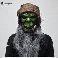 Orklar Guldan Maskeleri Oyunu Film Cosplay Prop Yetişkin Halloween için Korkunç Lateks Maske