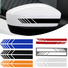 2x Car Side Mirrior Vinyl Graphic Sticker 15*3cm Rear View Mirror Body Stripe Decal DIY Decals