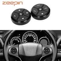 Controlador de volante do carro universal 4key música sem fio dvd gps navegação volante rádio botões controle remoto preto