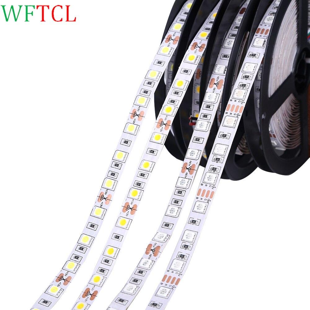 LED Bande 5050 RGB, RGBW, RGBWW, Blanc froid, bleu, vert, rouge, blanc led lumière bandes 1 M 2 M, 3 M, 4 M, 5 M, 10 M 12 V LED Lumières de Bande