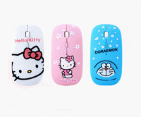 PINK Silent Hello Kitty 2.4GHz Wireless Optical Ultra Slim Silent Computer Laptop Gaming Nano Mouse|Mice| |  -