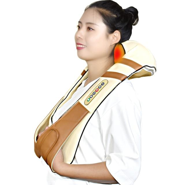Envío gratis el cuello masajeador eléctrico infrarrojo calefacción masaje dispositivo cuerpo masaje Shiatsu equipo de fisioterapia