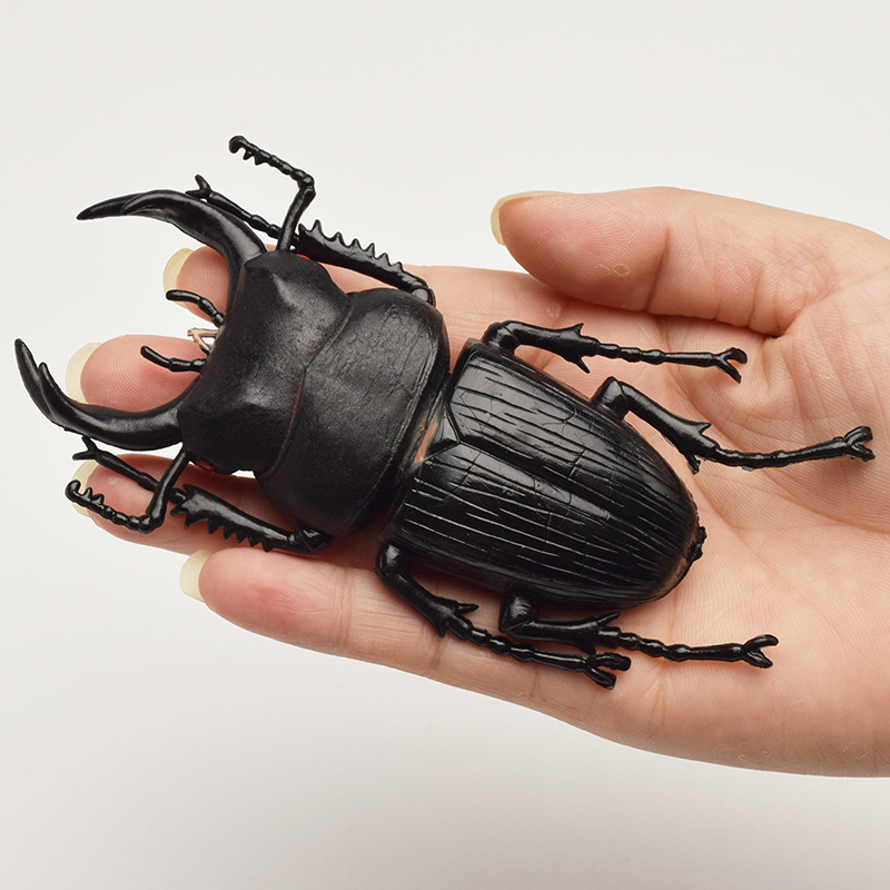 6 Style 13cm Simulation Beetle Toys Special Lifelike Model Simulation Insect Toy Nursery Teaching Aids Joke Toys