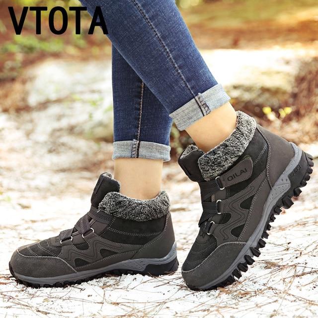 91072af24444f6 VTOTA dames chaussures décontractées chaudes neige Plus coton garder au  chaud femme chaussures décontractées baskets Plus velours femme maman  chaussures ...
