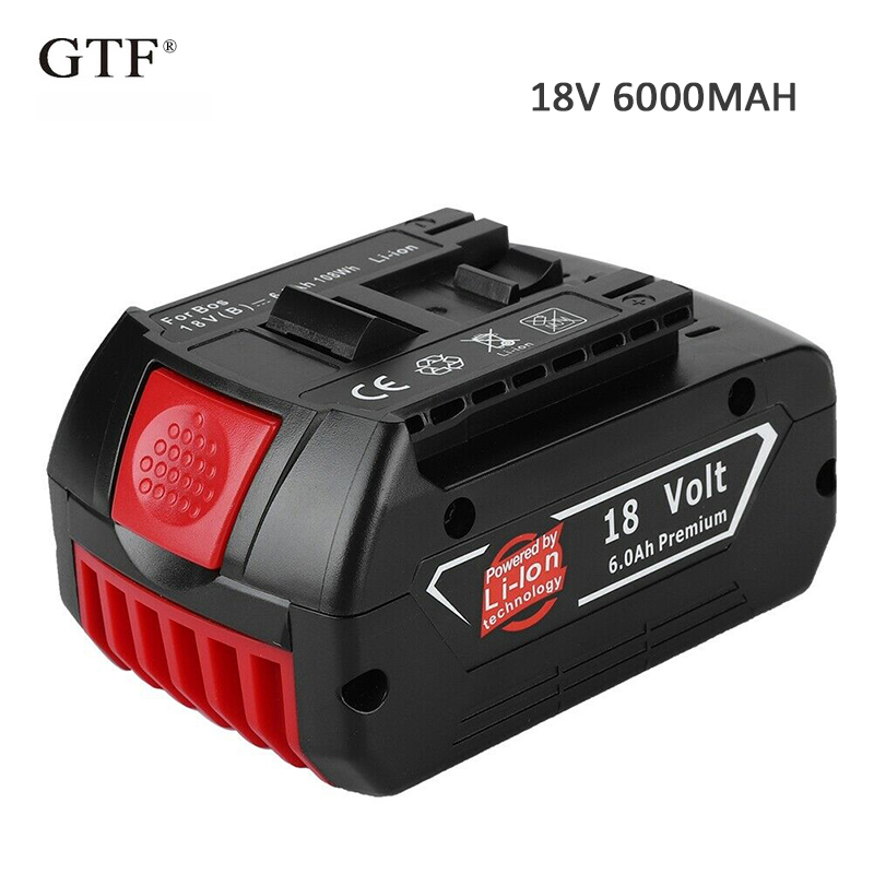 18V 6.0A 6000mah Rechargeable Li-ion Battery Portable Replacement Battery Backup Battery Indicator Light For Bosch BAT609