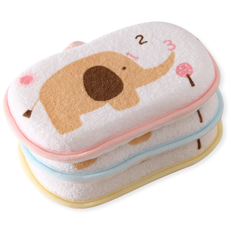 Newborn faucet Baby towel accessories Infant Shower Sponge Cotton Rubbing Body Wash cute child Brush bath brushes sponges rub