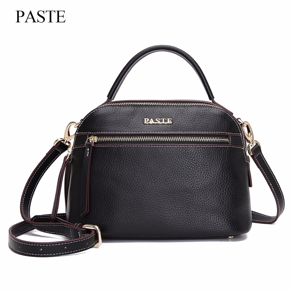 LOEIL New ladies bag top layer cowhide fashion shell bag hand strap shoulder Messenger bag leather handbag trend new top quality ladies fashion first layer cowhide handbag messenger shoulder pack cross body luxury trend bag wallet