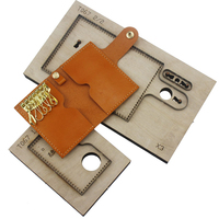 DIY leather craft card holder snap wallet key ring bag die cutting knife mould hand punch tool pattern