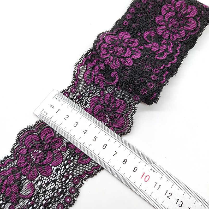 높은 품질 1 야드 꽃 패턴 스트레치 레이스 패브릭 리본 레이스 트림 리본 diy 공예 패브릭 7 cm/2.7in 너비 아프리카 직물