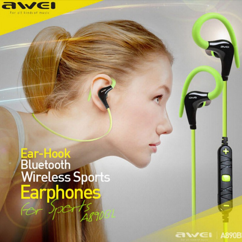 Awei A890BL Bluetooth stereo headphones Wireless sports running earphone music headset Handsfree fone de ouvido with Microphone  new arrival sports fone de ouvido earphone awei a890bl wireless bluetooth earphones audifonos with microphone for xiaomi iphone