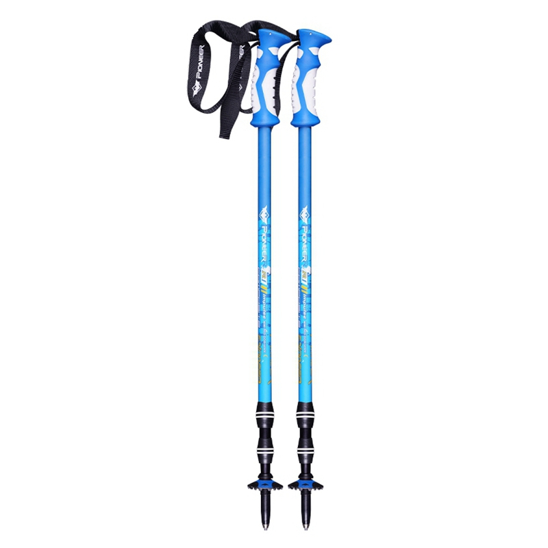 2pcs/lot Trek Pole Nordic Walking Poles Telescopic Alpenstock Aluminum Ultralight Walking <font><b>Stick</b></font> Crutch Senderismo Matte Colors